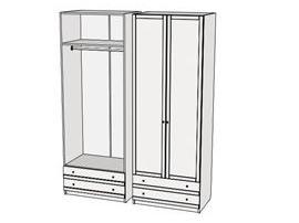 Шкаф с ящиками Calypso Wood 7CLL