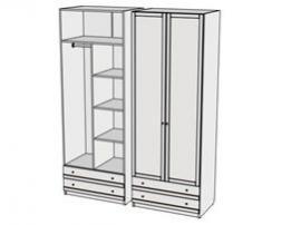 Шкаф комбинированный Calypso Wood 7CLM