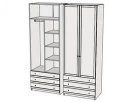 Шкаф комбинированный Calypso 7CLP