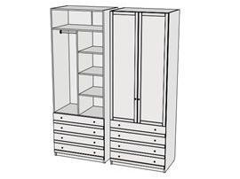 Шкаф с ящиками Calypso Wood 7CLS