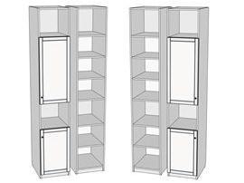 Пенал 2-х дверный 2-мя открытыми.секциями Calypso 7PL43
