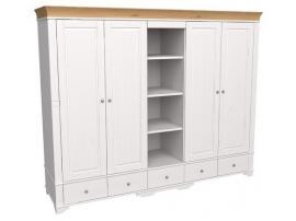 Шкаф 5 дверный с 4 глухими дверями и полками Бейли изображение 2