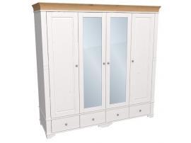 Шкаф с 2 зеркальными и 2 глухими дверями Бейли изображение 2
