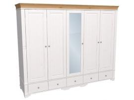 Шкаф с 4 глухими и 1 зеркальной дверью Бейли изображение 3