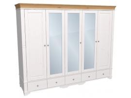 Шкаф с 2 глухими и 3 зеркальными дверями Бейли изображение 2