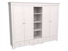 Шкаф 5 дверный с 4 глухими дверями и полками Бейли изображение 1