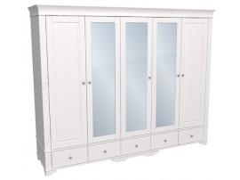 Шкаф с 2 глухими и 3 зеркальными дверями Бейли изображение 1