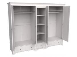 Шкаф 5 дверный с 4 глухими дверями и полками Бейли изображение 5