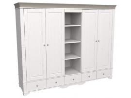 Шкаф 5 дверный с 4 глухими дверями и полками Бейли изображение 3