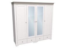 Шкаф с 2 зеркальными и 2 глухими дверями Бейли изображение 3