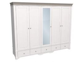 Шкаф с 4 глухими и 1 зеркальной дверью Бейли изображение 2