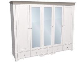 Шкаф с 2 глухими и 3 зеркальными дверями Бейли изображение 3