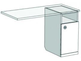 Тумба однодверная для компьютерного стола VT1-40 Velvet изображение 2
