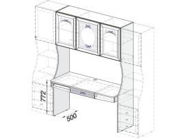 Модуль со столом Белоснежка (без рисунка) 93H023