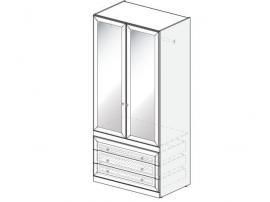 Шкаф с зеркалами Белоснежка (без рисунка) 93H073