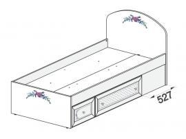 Кровать Белоснежка (без рисунка) 93K001