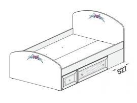 Кровать Белоснежка (без рисунка) 93K036