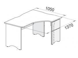 Стол угловой Белоснежка 93S008