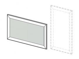 Зеркало навесное Белоснежка (без рисунка) 93Z002