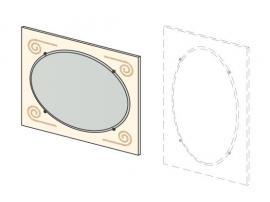 Зеркало навесное Эридан (без рисунка) 93Z003