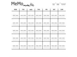 Накладка для фасада - Memo month Young Users изображение 1