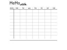 Накладка для фасада - Memo week Young Users изображение 1