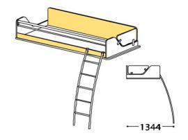 Кровать верхняя Силуэт с лестницей СФ-268905