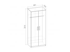 Шкаф 2-х дверный Румика Пинк Ш2 изображение 2