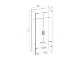 Шкаф многофункциональный Румика Пинк Ш2 изображение 2