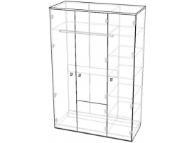 Шкаф 3-х створчатый Индиго изображение 2