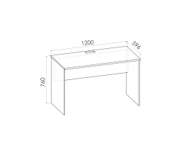 Стол прямой Румика Пинк С1 изображение 2