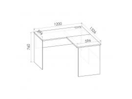 Стол угловой Румика Пинк С2 изображение 2