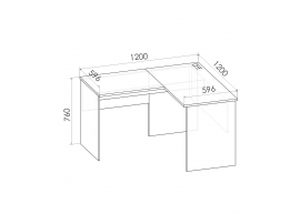 Стол угловой Румика Пинк С2 изображение 3