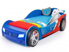 Кровать машина Человек-Паук синяя