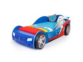Кровать машина Человек-Паук (синяя) изображение 1