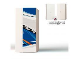 Шкаф угловой La-Man (синяя) к 2-х дверному шкафу (продолжение рисунка) изображение 1