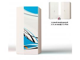 Шкаф угловой La-Man к 2-х дверному шкафу (продолжение рисунка) изображение 1