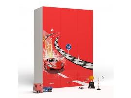 Шкаф 3-х дверный Formula (красная) изображение 1