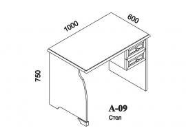 Стол письменный А-09 Капри изображение 4