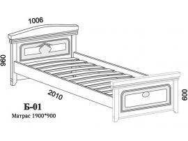 Кровать Б-01 с ортопедической решеткой изображение 6