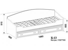 Кровать Б-13 с ортопедической решеткой изображение 5