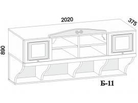 Полка навесная Б-11 изображение 4