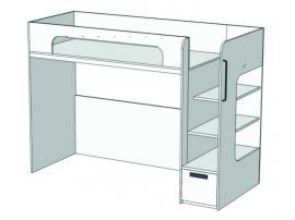 Кровать с ящиком 2-ой ярус Junior BR-02Q с рисунком изображение 1