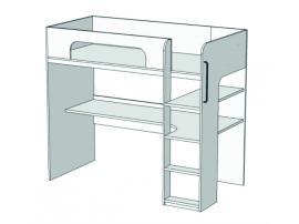 Кровать-чердак с компьютерным столом Junior BR-03 изображение 2