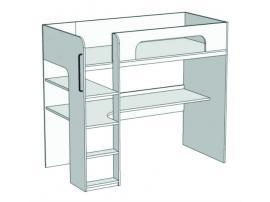 Кровать-чердак с компьютерным столом Junior BR-03 изображение 1