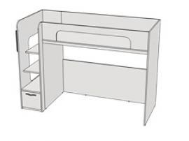 Кровать двухъярусная с ящиком Teenager BR02 L/R