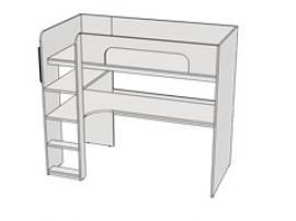 Кровать двухъярусная с комп столом Teenager BR03 L/R