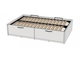 Кровать с подъемным механизмом 2-мя ящиками Teenager BT01120Q