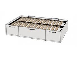 Кровать с подъемным механизмом 3-мя ящиками Teenager BT02120Q