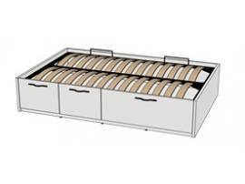 Кровать с подъемным механизмом 3-мя ящиками Teenager BT03120 L/R